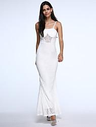 Платье - Макси - Спандекс/Полиэстер - Секси/Облегающий/Макси - Без подкладки