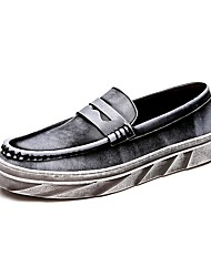 Westland's Men's Loafers & Slip-Ons Comfort Leather Casual Flat Heel Slip-on Brown / Gray Walking