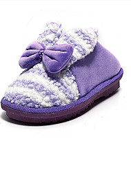 Women's Slippers & Flip-Flops Winter Slippers Customized Materials Casual Flat Heel Others Purple / Red
