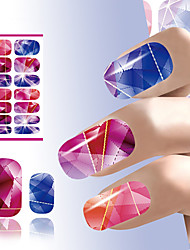 art beauté des ongles colorés clous de conception de cristal lumineux autocollant outils de décoration eau transfert art de manucure