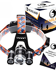 U`King® Headlamps / Headlamp Straps LED 8500LM Lumens 4 Mode Cree XM-L T6 18650 Adjustable Focus / Rechargeable / Compact Size / Zoomable
