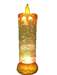 Colorful Candle Lights Rotating USB Lights Change Color Sequined Christmas Candle Night Light