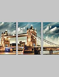 Вытянутая холсте множество Лондонский мост из 3