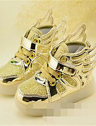Unisex-Sneaker-Lässig-Leder-Flacher Absatz-Komfort / Rundeschuh-Rosa / Silber / Gold