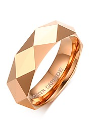 Men's Fashion Personality Tungsten Steel IP Rose Gold Plating High Polished  Band Rings(1Pc)
