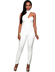Women's Choker Open Back Fashion Jumpsuit