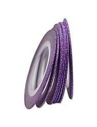 10pcs 1mm Nail Art Purple Color Nail Tape Lines DIY Decoration Manicure Beauty