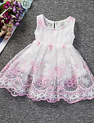 Girl's Party/Cocktail Jacquard DressPolyester Summer Pink / Purple