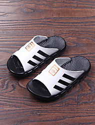 Unisex Slippers & Flip-Flops Summer Slippers Leather Casual Flat Heel Others White Others