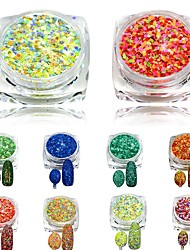 1pcs 3g 3D New Nail Glitter Powder Beauty Mixed Colors Cheese Glitter Pigment for Nails Tips Nail Art Craft SN33-40