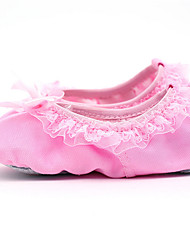 Non Customizable Women's Dance Shoes Canvas Canvas Ballet Flats Flat Heel Practice / Performance Pink
