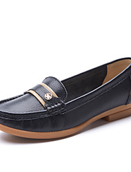 Women's Loafers & Slip-Ons Spring / Fall Moccasin / Round Toe Cowhide Outdoor / Casual Flat Heel driving shoes