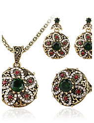 Jóias Colares / Brincos / Anéis Conjunto de Jóias Moderno Diário / Casual 1conjunto Feminino Bronze Presentes de casamento