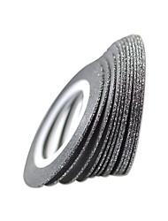 10pcs 1mm Nail Art Black Color Nail Tape Lines DIY Decoration Manicure Beauty