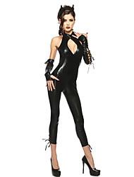 Costumes de Cosplay / Costume de Soirée Ange et Diable Fête / Célébration Déguisement Halloween Noir Couleur Pleine Collant/Combinaison