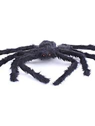 Artigos de Halloween Aranhas Festival/Celebração Trajes da Noite das Bruxas Preto Cor Única Mais Acessórios Dia Das Bruxas Unisexo Flanela