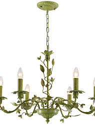 European Garden Lamp Chandelier Lamp American Iron Flower Flowers