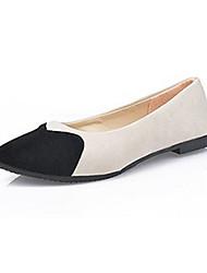 Women's Flats Summer Comfort Fleece Casual Flat Heel Split Joint Black / Blue / Green / Purple / Fuchsia Others