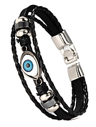 Men's Halloween Scary Evil Eye Three Layer Bracelet Wrap Bracelet Brown / Black 1pc