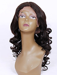 20-24inch New Big Wave Brazilian virgin remy human hair glueless lace front wigs for African Americans