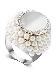 Anéis Fashion Casamento / Pesta Jóias Liga / Strass / Opala Feminino / Meninas Anéis unha 1pç,6 / 7 / 8 / 9 Branco
