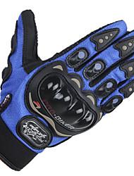 genuína pro-motociclista motocicleta luvas de dedos completos