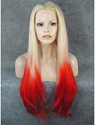 imstyle 30fashion rubia de color rojo pelucas delanteras del cordón sintético ombre a la venta