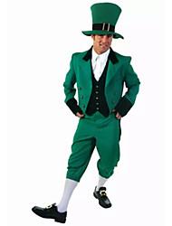 Costumes Plus de costumes Halloween Vert Couleur Pleine Térylène Haut / Pantalon / Plus d'accessoires