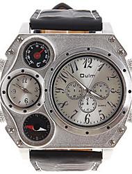 Мужской Модные часы Кварцевый Цифровой / Кожа Группа Повседневная Черный