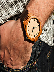Personalized Minimalist Engraved Wooden Watch Genuine Leather, Mens watch, Wood Watch Bamboo Watch