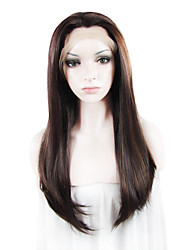 "IMSTYLE 24""Light Auburn Mixed Dark Auburn  Synthetic  Silky Straight Lace Front Wigs-N2"