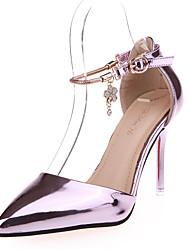 Damen-High Heels-Kleid / Party & Festivität-Leder-Stöckelabsatz-Absätze / Spitzschuh-Rosa / Silber / Gold