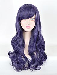 amo nozomi vivo tojo anime cosplay peruca longa escuro ondulado resistente ao calor roxo peruca sintética festa da moda Harajuku peruca
