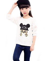 Girl's Casual/Daily Solid BlouseCotton Spring / Fall White