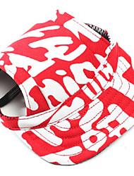 Собаки Банданы и шляпы Одежда для собак Зима Весна/осень камуфляж На каждый день Красный Синий