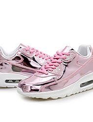 Damen-Flache Schuhe-Outddor-PU-Flacher Absatz-Komfort / Rundeschuh-Schwarz / Rosa / Silber