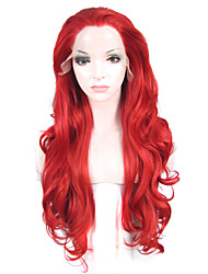 Peruca com Renda Perucas para mulheres Vermelho Costume Wigs Perucas Cosplay