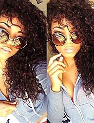 non transformés 8a brazilian cheveux vierges naturelle couleur noire crépus bouclés perruque complète avec des cheveux de bébé