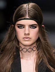 Femme Collier court /Ras-du-cou Tattoo Choker Forme de Cercle Forme Géométrique AlliageTatouage Gland Mode Simple Style Européen
