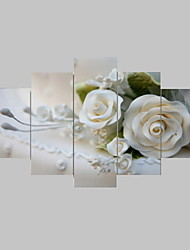 Rose Canvas Printed Painting Five Panels Ready To Hang