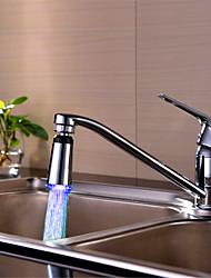 robinet conduit / circulaire contrôle de la température à trois couleurs changement de température du robinet (galvanoplastie de cuivre)