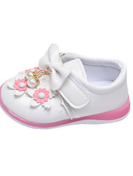 Girl's Loafers & Slip-Ons Spring / Fall Comfort PU Casual Flat Heel Bowknot / Flower Pink / Red / White Others