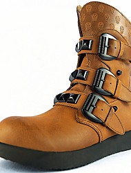 Men's Boots Spring/Fall / Winter Cowboy/Western Boots / Combat Boots Nappa Leather Outdoor/Casual Buckle Brown