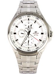 CASIO Four-eyes Watch with Quartz Movement Sport Stainless Steel Men's Watch EF-326D-7A