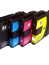 adequado para cartucho de impressora um grupo de quatro cor azul vermelho amarelo preto