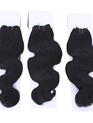 1PC Blackrose 14 Color 1B Synthetic Hair Extension High Temperature Fiber Weave Weft