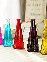 1PC Many Color Floating Point Glass Vase Classic Home Decoration