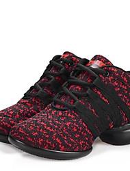 Chaussures de danse(Noir / Rouge / Gris) -Non Personnalisables-Talon Bas-Synthétique-Moderne