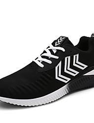 Men's Sneakers Spring / Fall Comfort Fabric Casual Flat Heel Black / Blue / Gray Sneaker