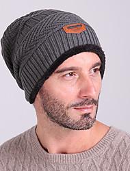 Bonnet de Ski Ski Casquettes/Bonnet Chapeau Homme Garder au chaud Pare-vent Snowboard Tissu de laine Gris Couleur PleineSki Patinage